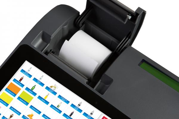 Kassaapparat med integrert skriver